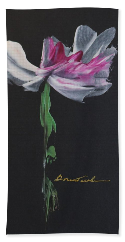 Encaustic Wax Beach Towel featuring the painting Mother's Day Bloom by Alexis Bonavitacola