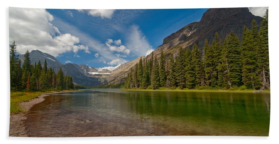 Nature Beach Sheet featuring the photograph Moutain Lake by Sebastian Musial