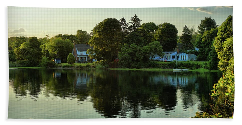 New England Scenery Beach Towel featuring the photograph New England Scenery by Lilia D