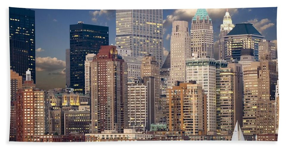Beach Towel featuring the photograph New York by Best Offers