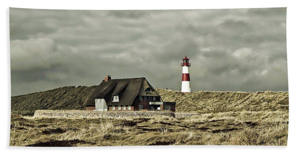 Germany Beach Towel featuring the photograph North Sea Lighthouse - Germany by Jonny Joka
