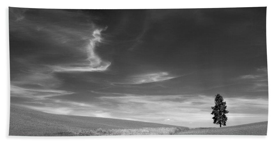 Palouse Farms Beach Towel featuring the photograph Palouse Farms by Leland D Howard