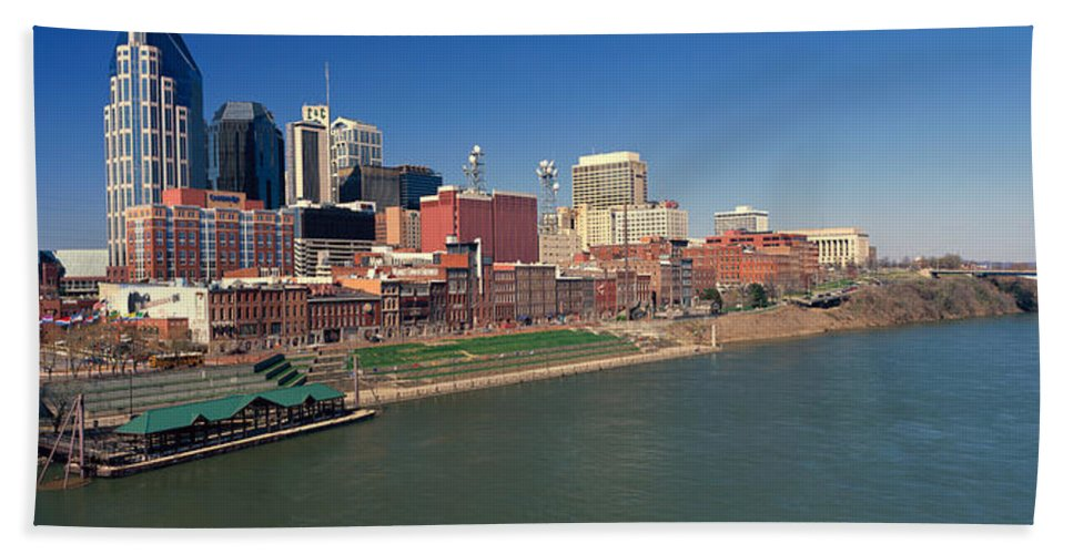 Photography Beach Towel featuring the photograph Panoramic Morning View Of Cumberland 1 by Panoramic Images