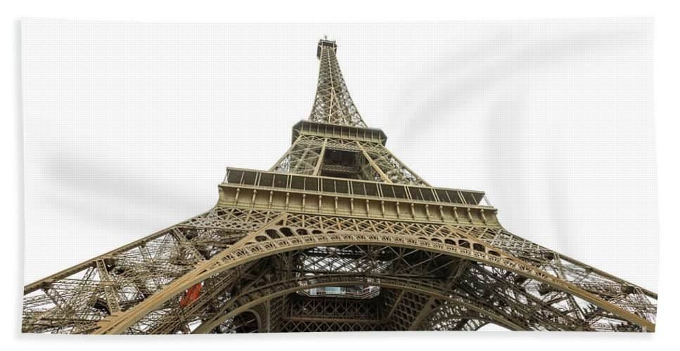 Paris Beach Towel featuring the photograph Paris Eiffel Tower by Benny Marty