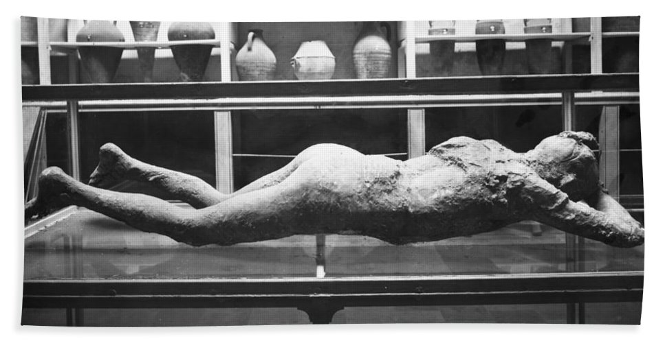 1873 Beach Towel featuring the photograph Pompeii: Plaster Cast by Granger