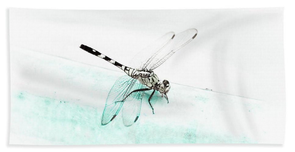 Dragonfly Beach Towel featuring the photograph Pool Side by Kim Henderson