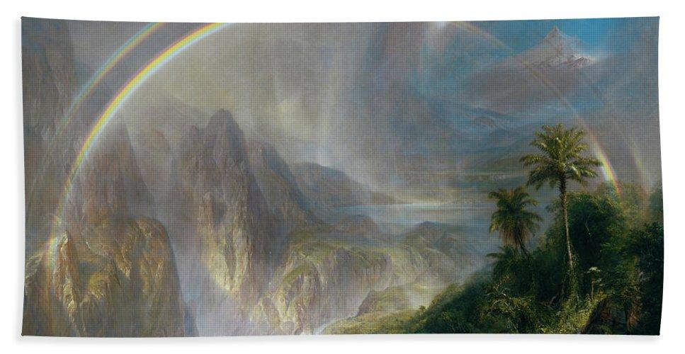Frederic Edwin Church Beach Towel featuring the painting Rainy Season In The Tropics by Frederic Edwin Church