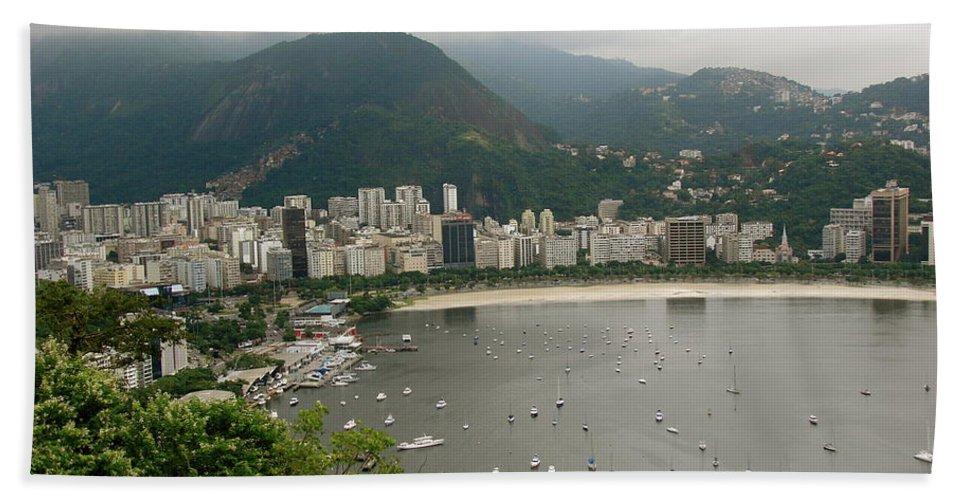 Rio De Janeiro Beach Towel featuring the photograph Rio De Janeiro Vi by Brett Winn