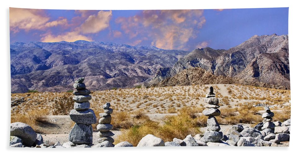 Rock Cairns At La Quinta Cove Beach Sheet For Sale By Dominic Piperata