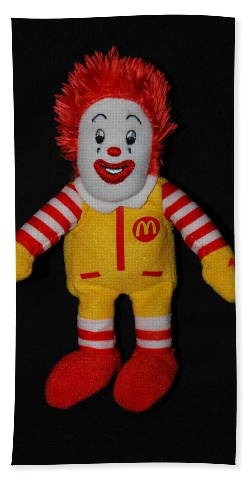 Ronald Mcdonald Beach Towel featuring the photograph Ronald Mcdonald by Rob Hans