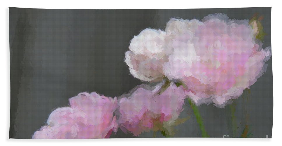 Single Beach Towel featuring the mixed media Roses - Bring On Spring Series by Andrea Anderegg