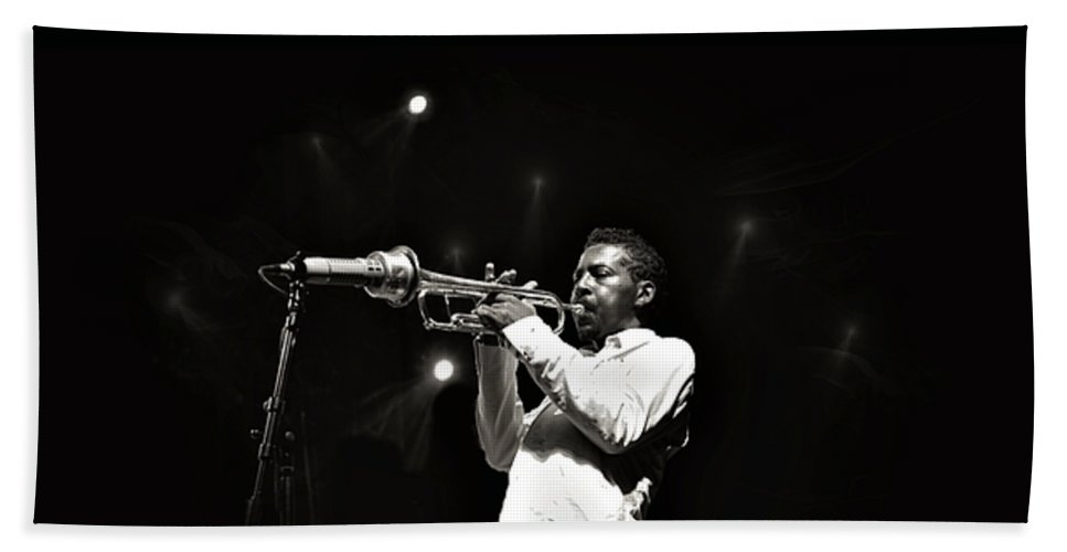Roy Hargrove Beach Towel featuring the photograph Roy Hargrove by Jean Francois Gil