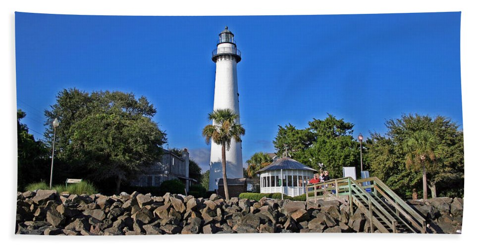 Water Beach Towel featuring the photograph Saint Simons Island by David Campbell