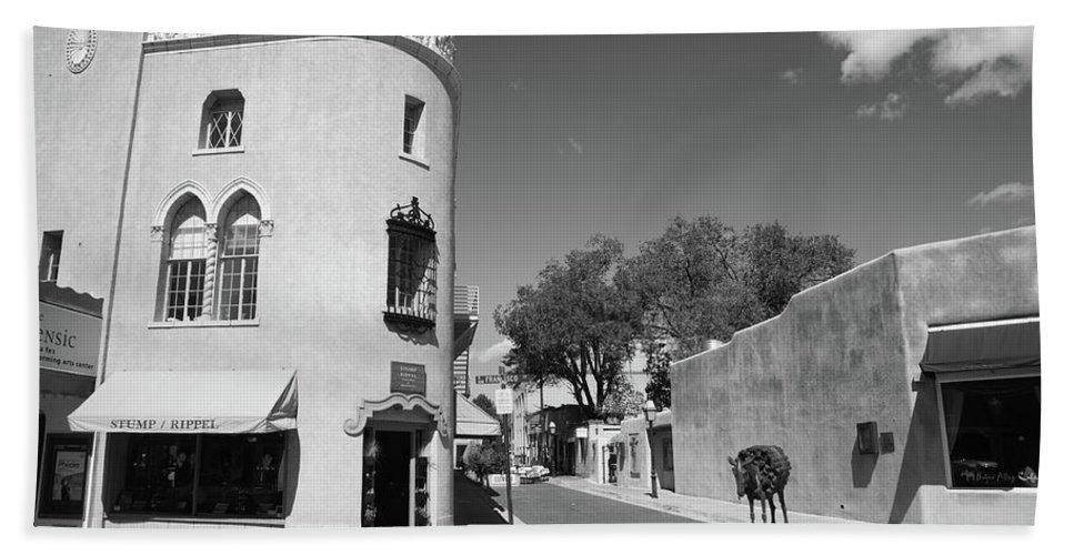 Adobe Beach Towel featuring the photograph Santa Fe New Mexico by Frank Romeo