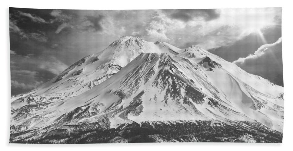 Mt Shasta Beach Towel featuring the photograph Shasta by Athala Bruckner