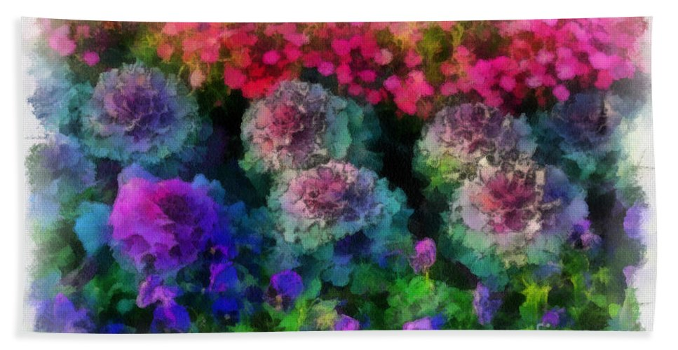Flower Beach Towel featuring the painting Signs Of Spring by Paulette B Wright