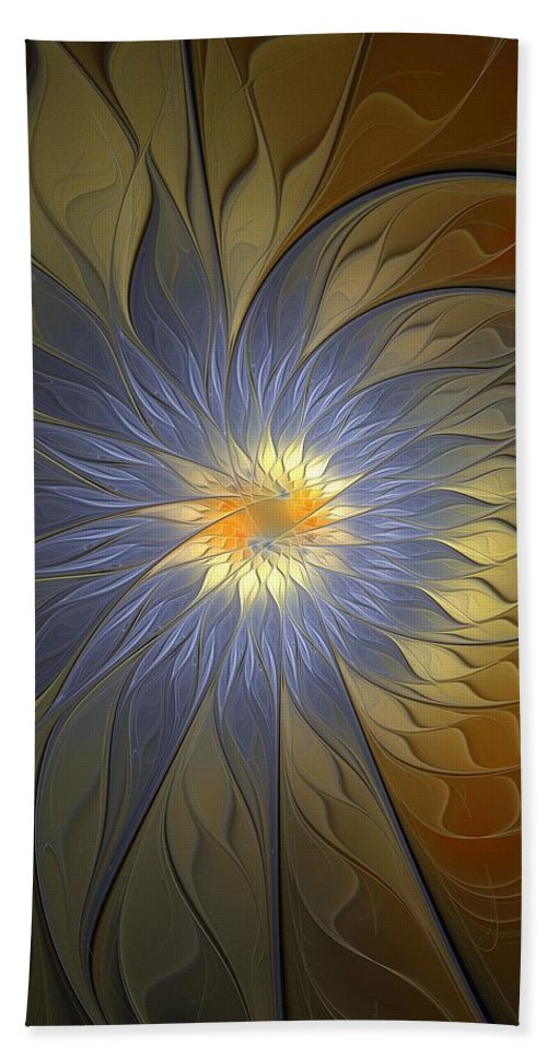 Digital Art Beach Towel featuring the digital art Something Blue by Amanda Moore