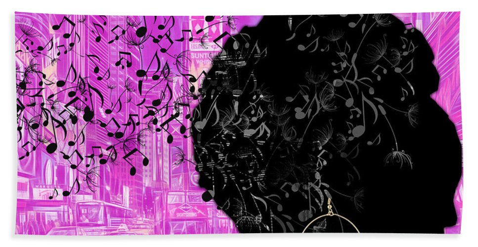 Music Beach Towel featuring the mixed media Sound Of Music Collection by Marvin Blaine
