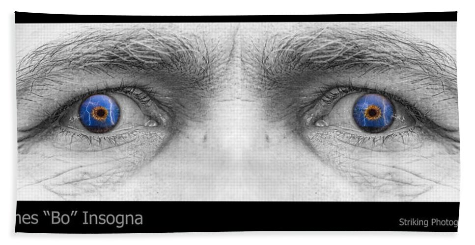 Eyes Beach Towel featuring the photograph Stormy Angry Eyes by James BO Insogna