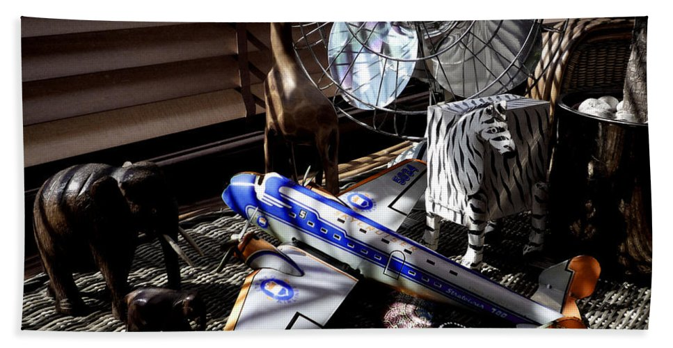 Still Life Beach Towel featuring the photograph Suburban Safari by Charles Stuart