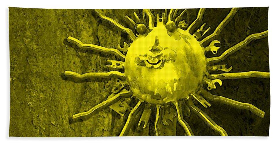 Sun Beach Towel featuring the photograph Sun Tool by Debbi Granruth