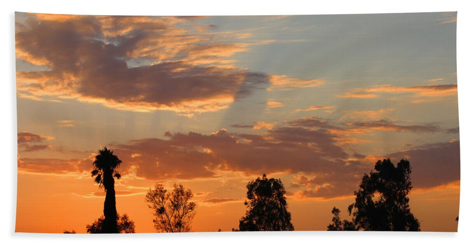 Sunset. Moreno Valley Beach Towel featuring the photograph Sunset Moreno Valley Ca by Tommy Anderson