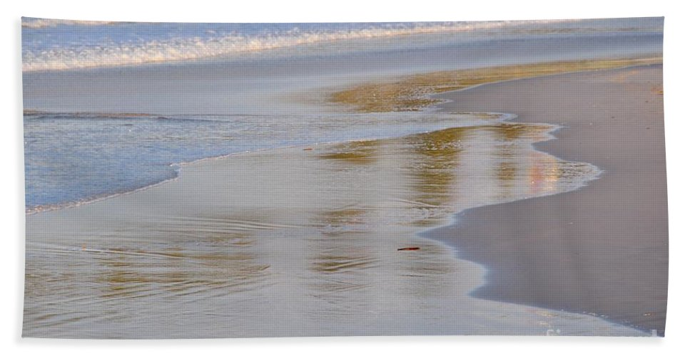 Gold Coast Beach Towel featuring the photograph Sunset Reflections by Csilla Florida