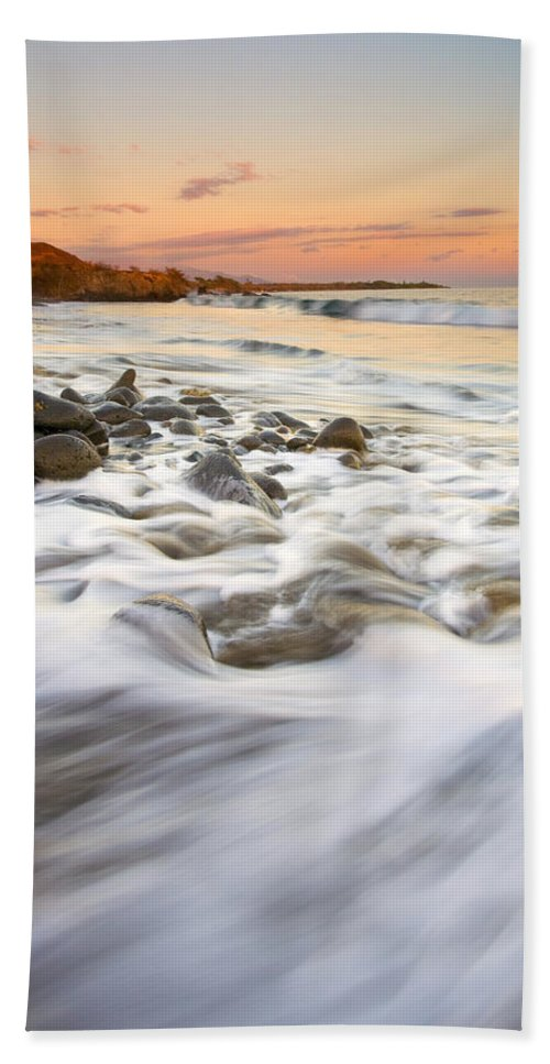 Beach Beach Towel featuring the photograph Sunset Tides by Mike Dawson