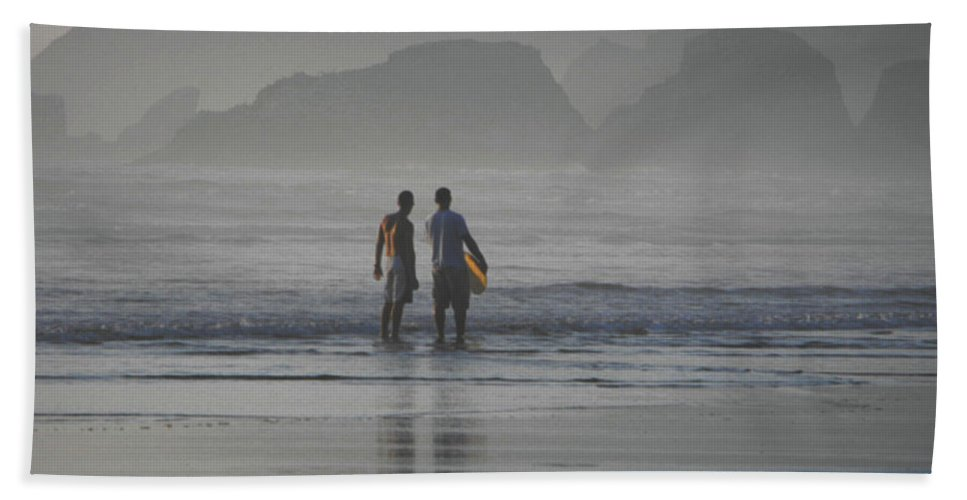 Beach Beach Towel featuring the photograph Surf Pals by Catherine Sprague