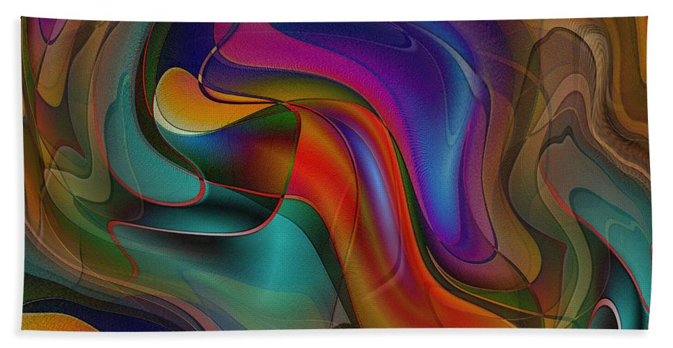 Abstract Art Beach Towel featuring the digital art Sway With Me by Iris Gelbart