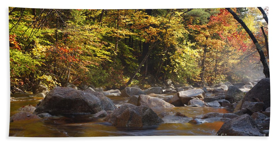 Swift River Beach Towel featuring the photograph Swift River - White Mountains New Hampshire Usa by Erin Paul Donovan