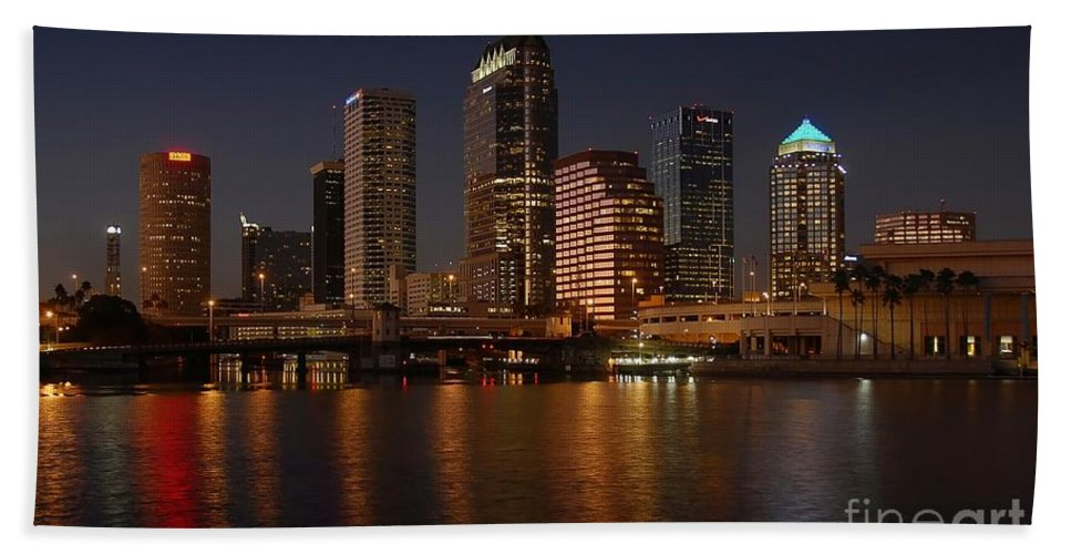 Tampa Beach Towel featuring the photograph Tampa Florida by David Lee Thompson