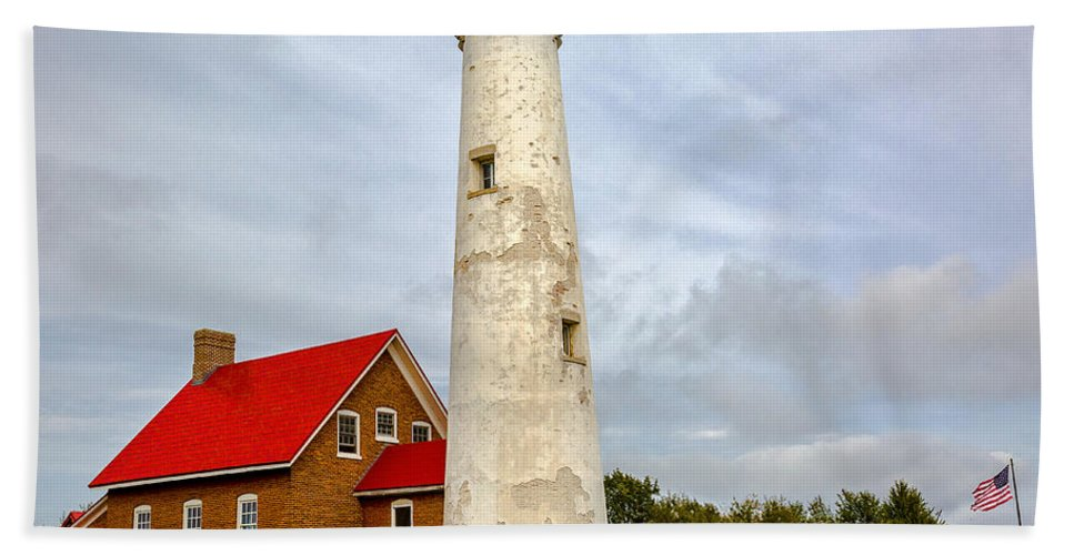 Lighthouses Beach Towel featuring the photograph Tawas Point Lighthouse - Lower Peninsula, Mi by Jack R Perry