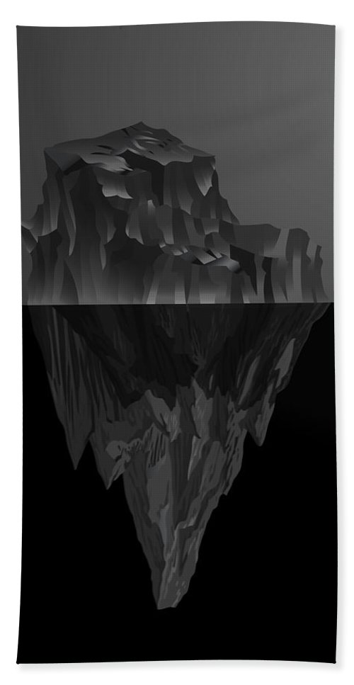 'black On Black' By Serge Averbukh Collection Beach Towel featuring the photograph The Black Iceberg by Serge Averbukh