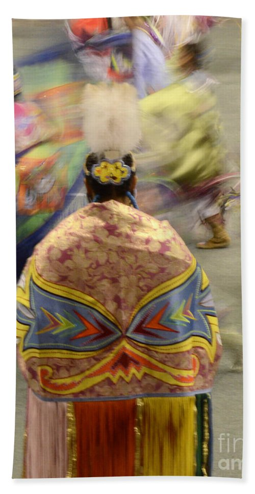 Pow Wow Beach Towel featuring the photograph Pow Wow The Dance 4 by Bob Christopher