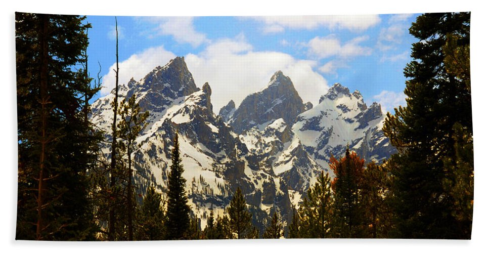 Photography Beach Towel featuring the photograph The Grand Tetons by Susanne Van Hulst