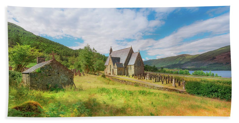 Ballichulish Church Beach Towel featuring the photograph The Old Highland Church by Roy McPeak