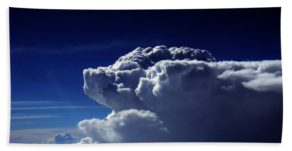 Cloud Photos Beach Towel featuring the photograph The Pig And The Pug At 36k by Strato ThreeSIXTYFive