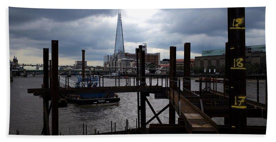 London Beach Towel featuring the photograph The Shard by Piotr Kuzniar
