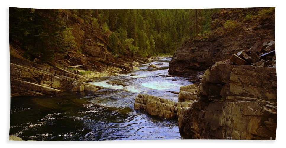 Water Beach Towel featuring the photograph The Yak River by Jeff Swan