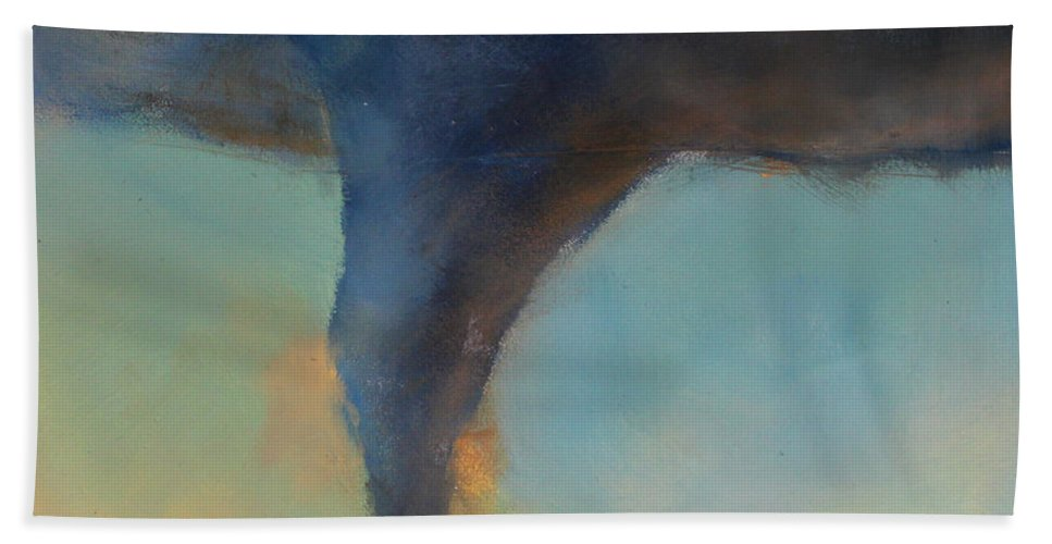 Tornado Beach Towel featuring the painting Tornado On The Move by Toni Grote