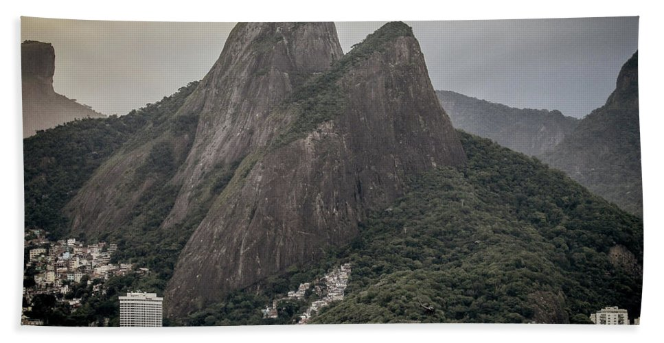 Ipanema Beach Beach Towel featuring the photograph Two Brothers Mountains by Cesar Vieira