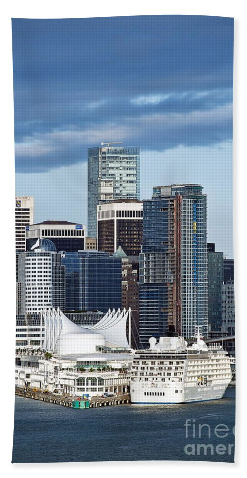 Business Beach Towel featuring the photograph Vancouver Skyline by John Greim