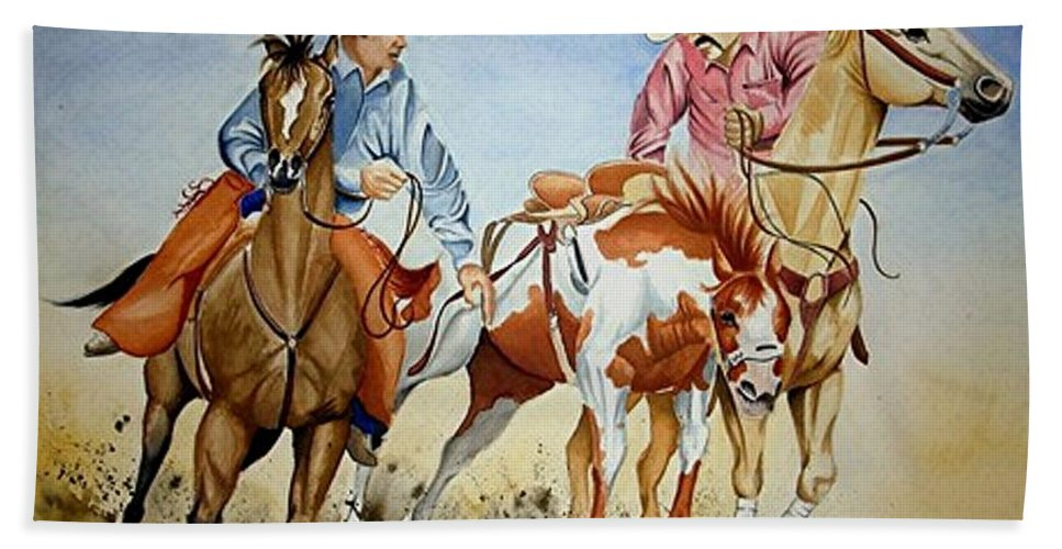 Art Beach Towel featuring the painting Victory Dance by Jimmy Smith