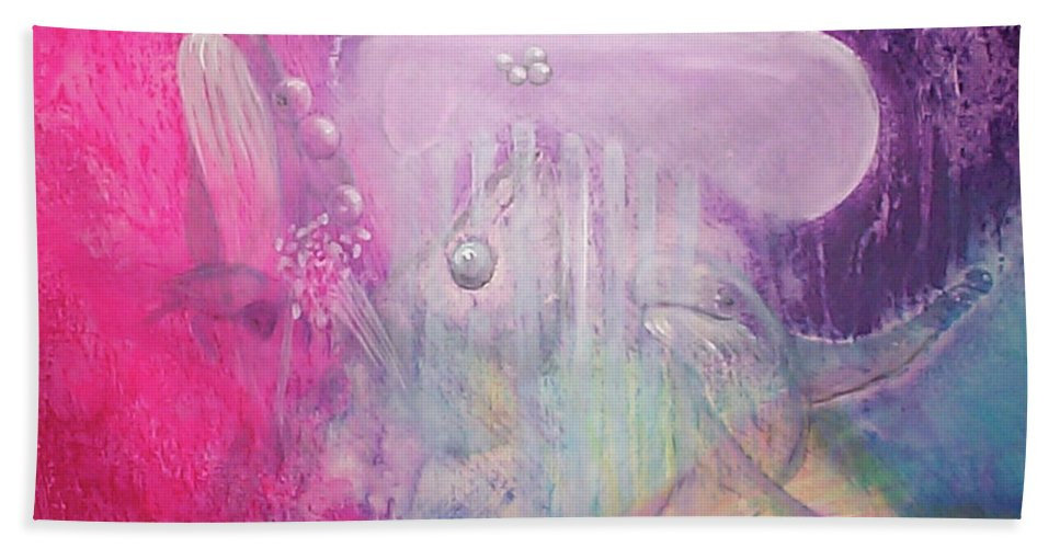 Fuqua - Artwork Beach Towel featuring the painting Visions Of Atlantis by Beverly Fuqua