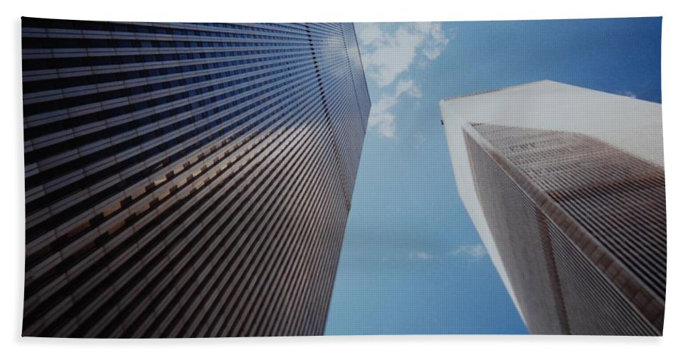 Wtc Beach Sheet featuring the photograph W T C 1 And 2 by Rob Hans