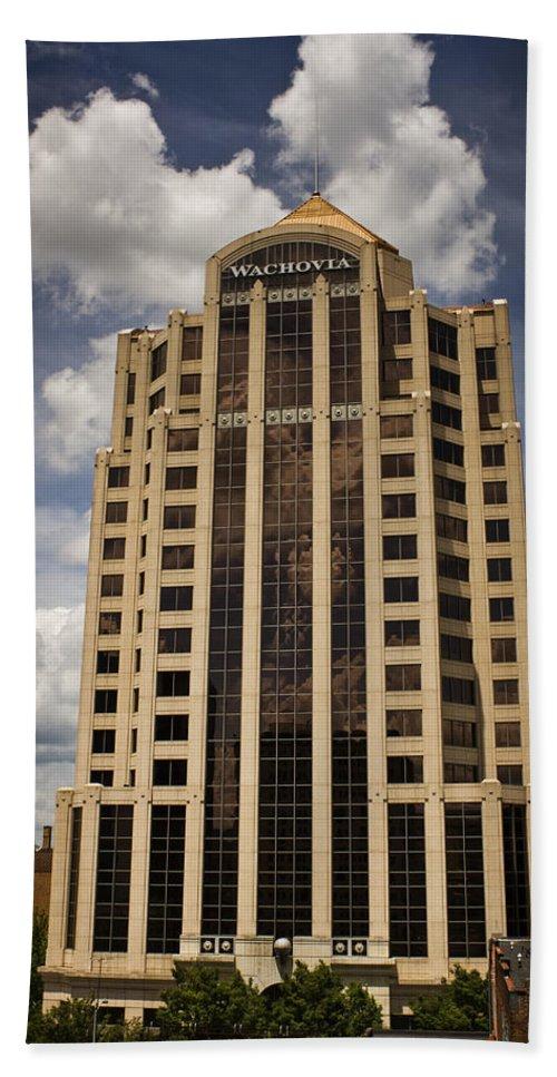 Roanoke Beach Towel featuring the photograph Wachovia Tower Roanoke Virginia by Teresa Mucha
