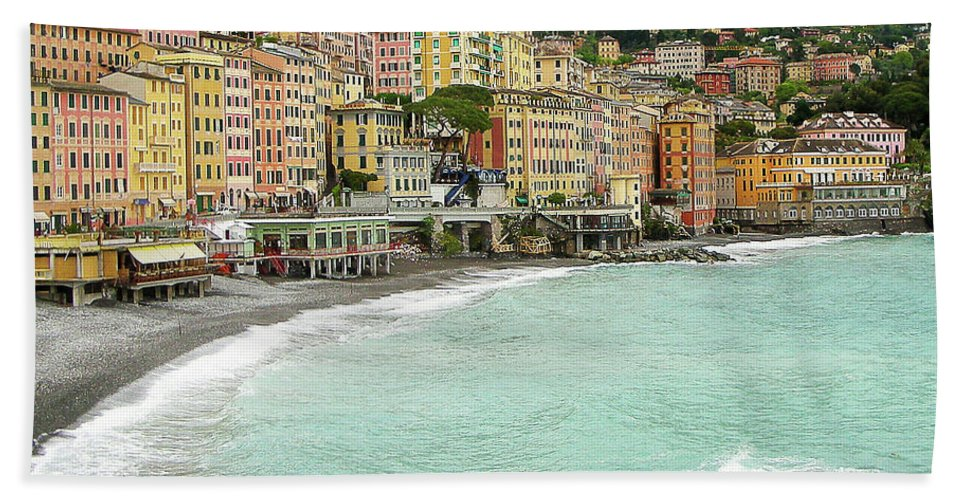 Camogli Photograph Beach Towel featuring the photograph Waiting by Ivy Ho