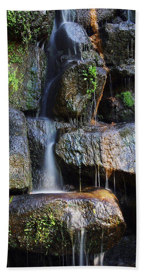 Asian Beach Towel featuring the photograph Waterfall by Carlos Caetano