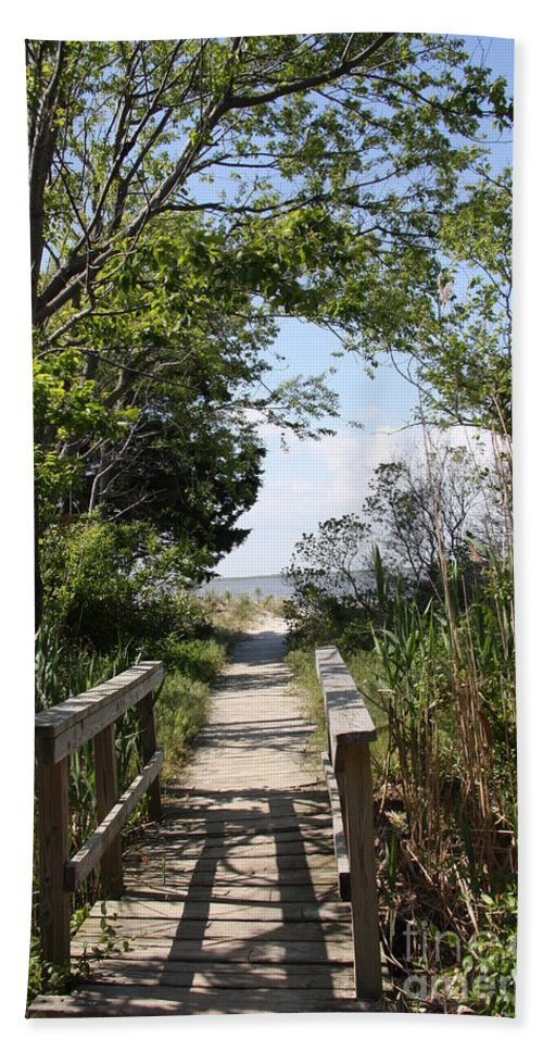 Way Beach Towel featuring the photograph Way To The Beach by Christiane Schulze Art And Photography
